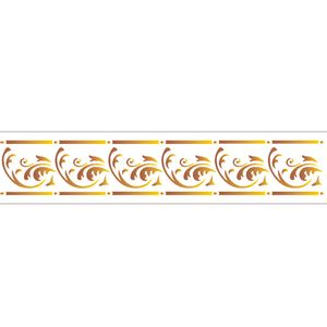 Estencil-para-Pintura-Simples-6x30-Arabesco-Curva---OPA1935---Opa