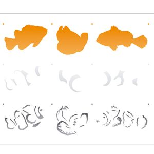 Estencil-para-Pintura-Simples-20X25-Peixe-Palhaco-OPA2076---Opa