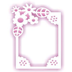 Estencil-para-Pintura-Simples-20X25-Negativo-Moldura-Flor-OPA2072---Opa