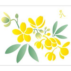 Estencil-para-Pintura-Simples-20X25-Flor-Casiruba-OPA2058---Opa