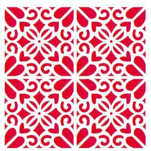 Estencil-para-Pintura-Simples-20X25-Estampa-Floral-Coracao-OPA2057---Opa