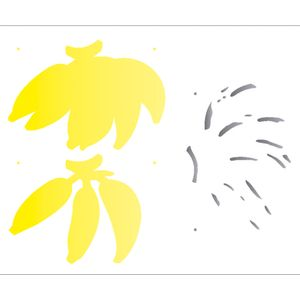 Estencil-para-Pintura-Simples-20X25-Cacho-de-Banana-OPA2053---Opa