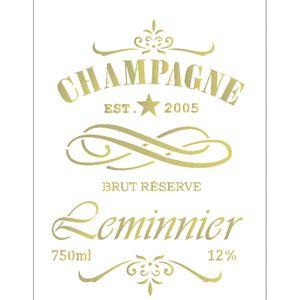 Estencil-para-Pintura-Simples-15x20-Rotulo-Champagne-OPA2047---Opa