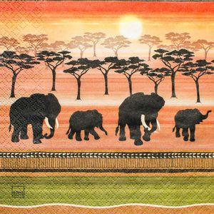 Guardanapo-Elefantes-Africanos-GCD211150---Toke-e-Crie