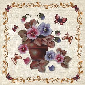 Guardanapo-Amor-Perfeito-no-Vaso-GBM037---Toke-e-Crie-By-Mamiko