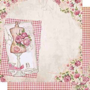 Papel-Scrapbook-Dupla-Face-Flores-e-Xadrez-SD-472---Litoarte