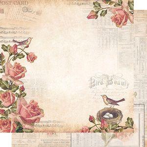 Papel-Scrapbook-Dupla-Face-Rosas-e-Passaros-SD-482---Litoarte