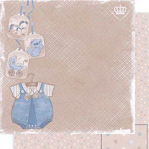 Papel-Scrapbook-Dupla-Face-Roupa-Baby-Menino-SD-495---Litoarte