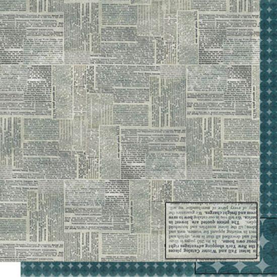 Papel-Scrapbook-Dupla-Face-Jornal-SD-503---Litoarte