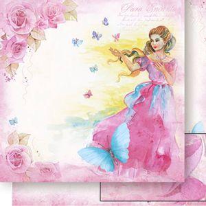 Papel-Scrapbook-Dupla-Face-Mulher-e-Rosas-SD-511---Litoarte