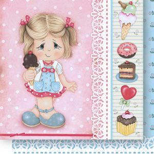 Papel-Scrapbook-Dupla-Face-Menina-com-Sorvete-SD-519---Litoarte