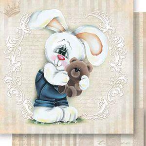 Papel-Scrapbook-Dupla-Face-Coelho-e-Ursinho-SD-522---Litoarte