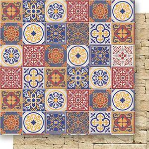 Papel-Scrapbook-Dupla-Face-Azulejos-SD-524---Litoarte