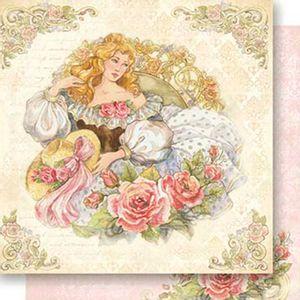 Papel-Scrapbook-Dupla-Face-Mulher-com-Chapeu-SD-529---Litoarte