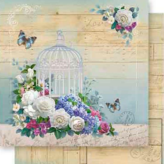 Papel-Scrapbook-Dupla-Face-Gaiola-e-Flores-SD-548---Litoarte