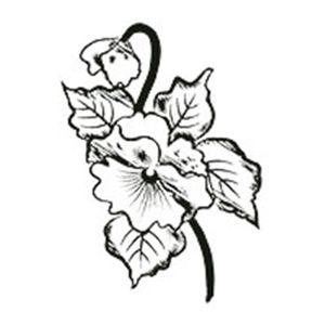 Carimbo-em-Borracha-Flor-Amor-Perfeito-CLP-044---Litoarte