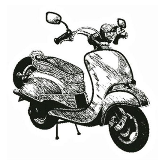 Carimbo-em-Borracha-Moto-Lambreta-CLP-063---Litoarte