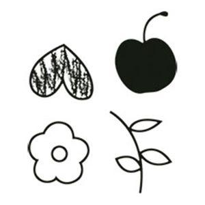 Carimbo-em-Borracha-Flor-Frutas-e-Coracao-CLP-069---Litoarte