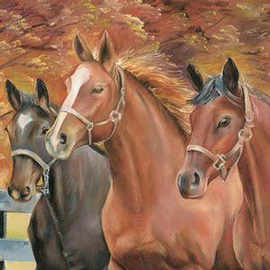 Papel-Transfer-30x30-Trio-Cavalos-PT30-020---Litoarte