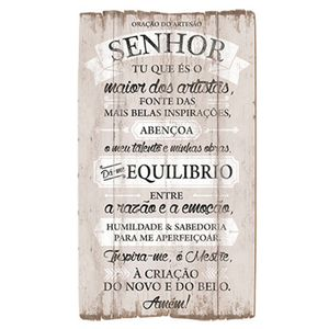 Placa-Decorativo-em-MDF-20x35-Oracao-do-Artesao-DHPM5-109---Litoarte