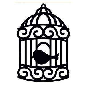 Aplique-Madeira-Decorativa-Gaiola-Passarinho-Preto-LMD-001---Litocart