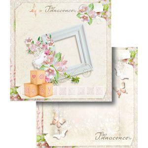 Papel-Scrapbook-Dupla-Face-Moldura-Flores-LSCD-353---Litocart