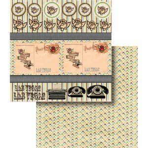 Papel-Scrapbook-Dupla-Face-Tags-Las-Vegas-LSCD-359---Litocart