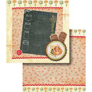 Papel-Scrapbook-Dupla-Face-Lousa-e-Flores-LSCD-360---Litocart