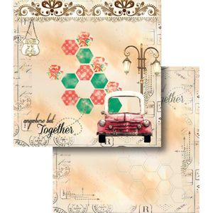 Papel-Scrapbook-Dupla-Face-Carro-Antigo-LSCD-368---Litocart