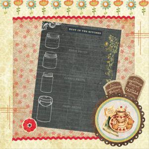 Papel-Scrap-Decor-165x165-Lousa-e-Flores-LSCP-014---Litoarte