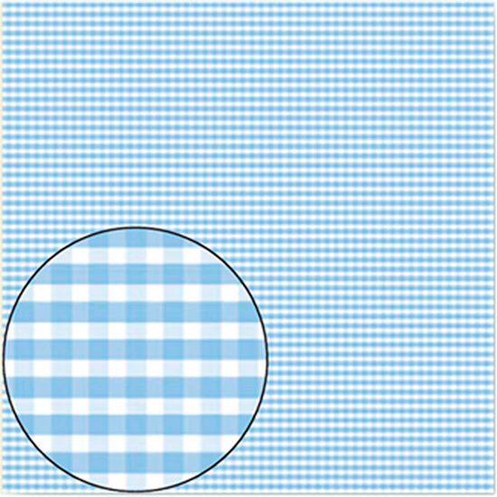 Papel-Scrapbook-Folha-Simples-Xadrez-Azul-Bebe-LSC-077---Litocart