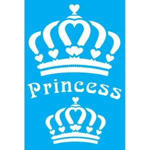 Stencil-para-Pintura-30x20-Coroa-Princess-LSS-016---Litocart