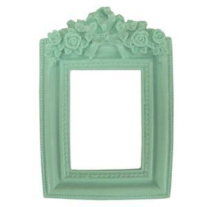 Moldura-Provensal-Retangular-Rosas-com-Laco-95x14-Verde---Resina