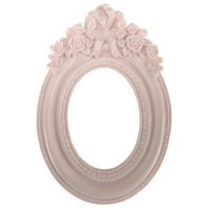Moldura-Provensal-Oval-Rosas-com-Laco-9x14-Rosa---Resina