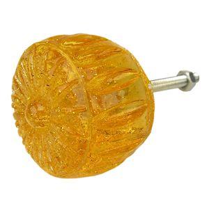 Puxador-para-Gavetas-Margarida-Transparente-Amarelo---Resina
