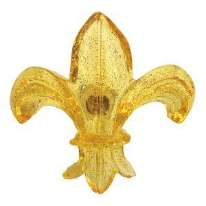 Puxador-para-Gavetas-Flor-de-Lis-Transparente-Amarelo---Resina