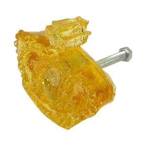 Puxador-para-Gavetas-Coroa-Transparente-Amarelo---Resina