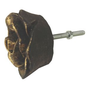Puxador-para-Gavetas-Rosa-45x45cm-Preto-e-Dourado---Resina