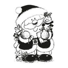 Carimbo-em-Borracha-Papai-Noel-e-Presentes-CLPN-003---Litoarte