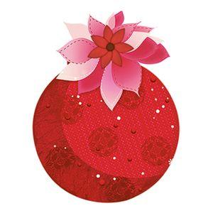 Aplique-Decoupage-em-Papel-e-MDF-Bola-Vermelha-de-Natal-APMN8-007---Litoarte