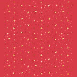 Papel-Scrapbook-Hot-Stamping-Natal-Estrelas-fundo-Vermelho-SEH-011---Litoarte