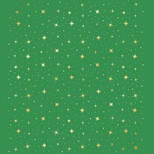 Papel-Scrapbook-Hot-Stamping-Natal-Estrelas-fundo-Verde-SEH-012---Litoarte