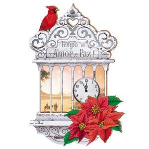 Placa-em-MDF-Natal-Tempo-de-Amor-e-Paz-DHN-001---Litoarte