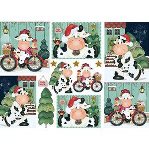 Papel-Decoupage-Natal-Vaca-na-Bicicleta-PDN-105---Litoarte