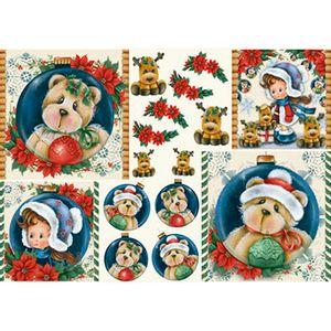 Papel-Decoupage-Natal-Menina-e-Bebe-Rena-PDN-122---Litoarte