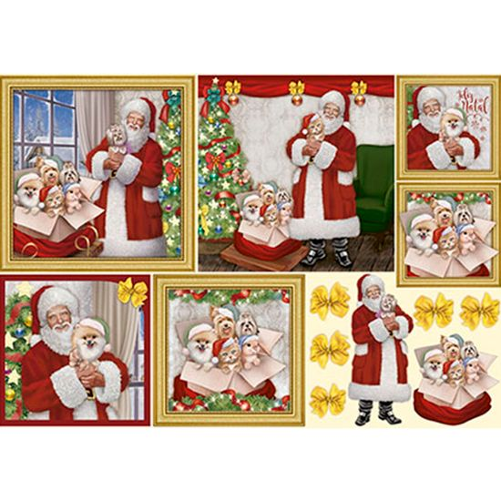 Papel decoupage natal papai noel e animais estima o pdn - Papel decoupage infantil ...