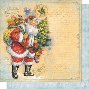 Papel-Scrapbook-Natal-Papai-Noel-e-Arvore-SDN-071---Litoarte