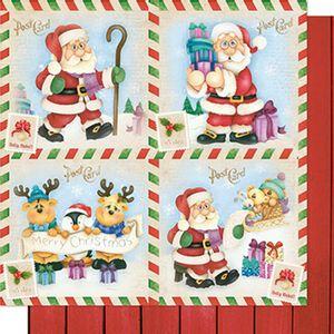 Papel-Scrapbook-Natal-Papai-Noel-Post-Card-SDN-073---Litoarte