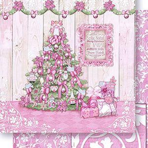 Papel-Scrapbook-Natal-Arvore-Natal-Rosa-SDN-058---Litoarte
