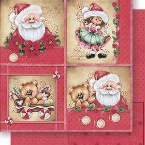 Papel-Scrapbook-Natal-Papai-Noel-e-Menina-SDN-064---Litoarte